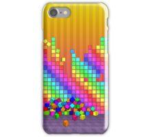 Fallen cubes 3D graphics design iPhone Case/Skin