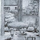 View of Kitchen Table by Geraldine M Leahy