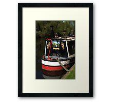 Barge Art Framed Print