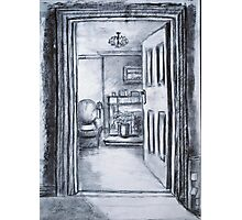 View into Sitting Room (in Charcoal) Photographic Print