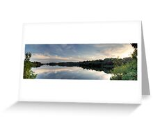 Ardingly Reservoir Panoramic Reflection Greeting Card