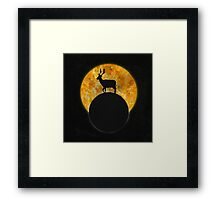 Deer Walking On The Moon Framed Print