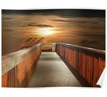 Walkway to Sunset Poster