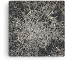 Brussels map Canvas Print