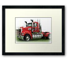 Mack Power Framed Print