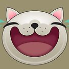HAPPY CAT FACE by MEDIACORPSE