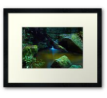 The Pond - Terrace Falls Framed Print