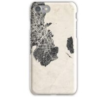 Copenhagen map iPhone Case/Skin