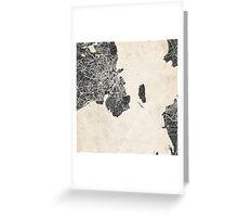 Copenhagen map Greeting Card