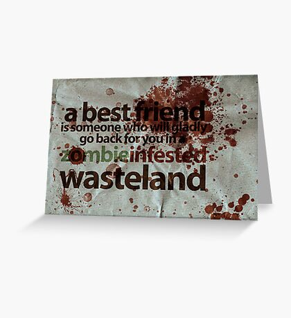 Zombie Infested Wasteland Greeting Card