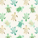 Gilded Jade & Mint Turtles by Tangerine-Tane