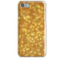 Golden abstract bokeh bubbles iPhone Case/Skin