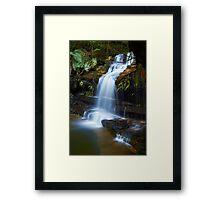 The Ledge - Terrace Falls  Framed Print