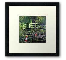 Waterlilies - Nature in the Future Framed Print