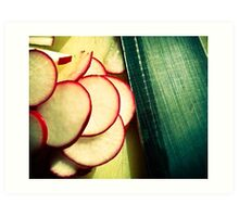 Radishes are good for me and good for you. Art Print
