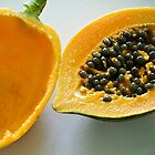 Fresh papaya in Grenada, West Indies by xtalline