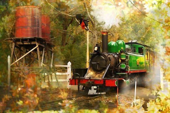 Nostalgic Steam by Trudi's Images