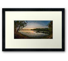 Jabiru Lake Sunset, NT Australia Framed Print