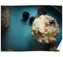 Black raspberry muffins Poster
