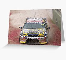 V8 Supercar - Jamie Whincup off the road travel Greeting Card