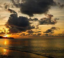 Orange sunset - Grenada, West Indies by xtalline