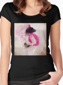 dog student. Women's Fitted Scoop T-Shirt