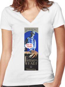 Fishermans Wharf Women's Fitted V-Neck T-Shirt