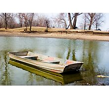 Sunk Boat Photographic Print