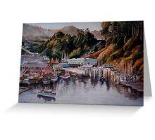 Noyo Harbor at Dawn Greeting Card