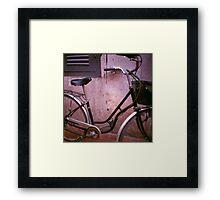 back alley, siem reap, cambodia Framed Print
