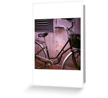 back alley, siem reap, cambodia Greeting Card