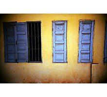 yellow/blue, phnom penh, cambodia Photographic Print