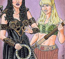 Warrior Princess and Battling Bard by KevennTSmith