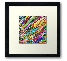 Color rain Framed Print
