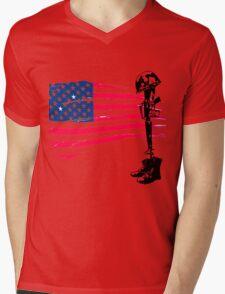 Fallen Soldier Mens V-Neck T-Shirt