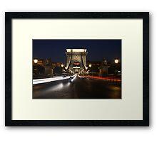 Chain Bridge, Budapest, Hungary Framed Print