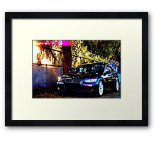 BMW 330i Marble Black Framed Print