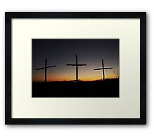 Lead Me to Calvary Framed Print