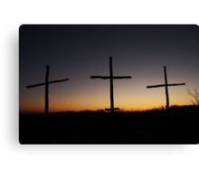 Lead Me to Calvary Canvas Print