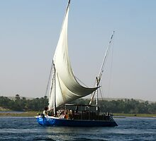 Sailing the Nile on a Felucca by Marilyn Harris