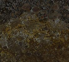 mineral painting - edge of a fumorole (no 1)  by Tomasz Ciolek