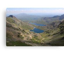 Snowdon Lakes Canvas Print