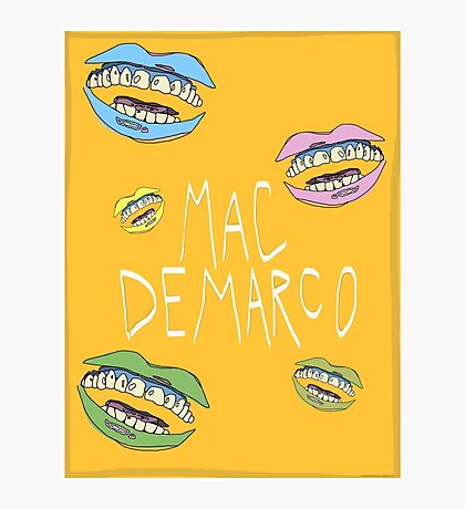 MAC DEMARCO POSTER Photographic Print