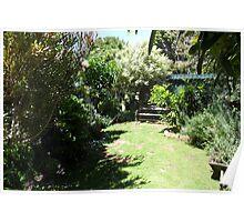 cozy in the garden Poster