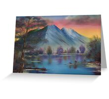 Purple Tranquility Greeting Card