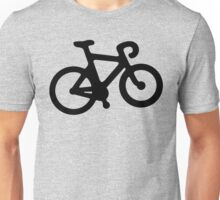 Black and White Bike Unisex T-Shirt