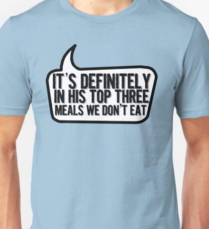 Top Three Meals Unisex T-Shirt