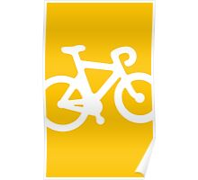 Yellow Bike Poster