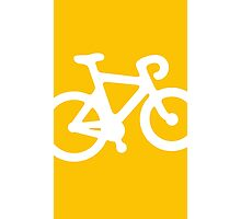 Yellow Bike Photographic Print