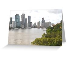 Brisbane City from Kangaroo Point Greeting Card
